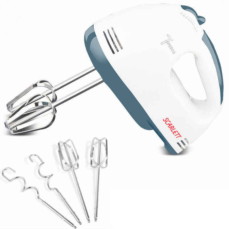 Electric Hand Held Blender ~ Speed white hand held food cake dough electric whisk
