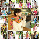 Hot Fashion Long Cotton Voile Floral Shawl Scarf Wrap Stole 19 Colors To Pick H