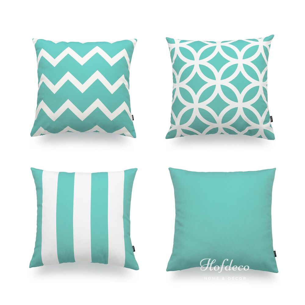 Decorative throw pillow case turquoise aqua heavy weight - Fabric for throw pillows ...