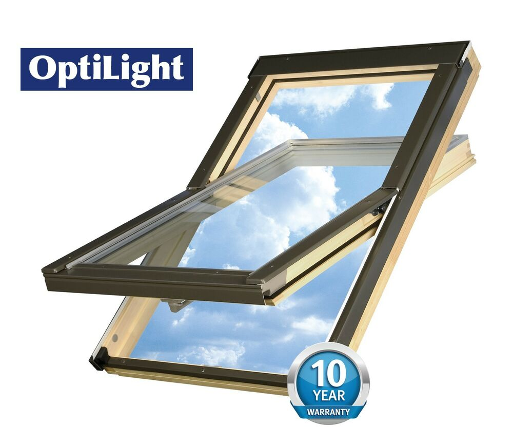 optilight skylight roof window 78x98 with free flashing ebay. Black Bedroom Furniture Sets. Home Design Ideas