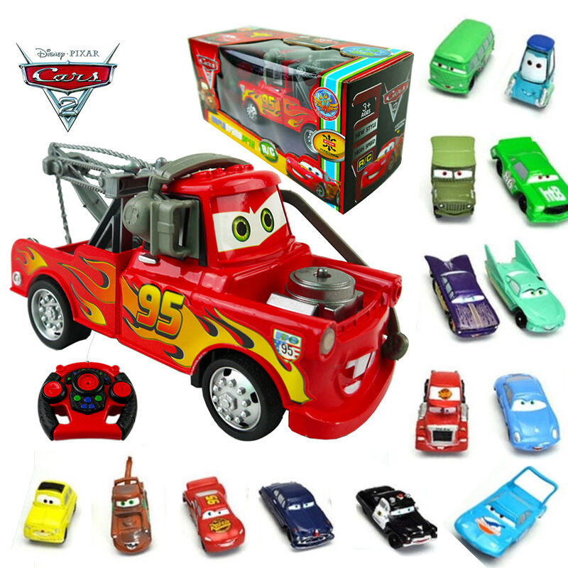 disney pixar cars mcqueen rc radio remote control toy action figure figurines ebay. Black Bedroom Furniture Sets. Home Design Ideas