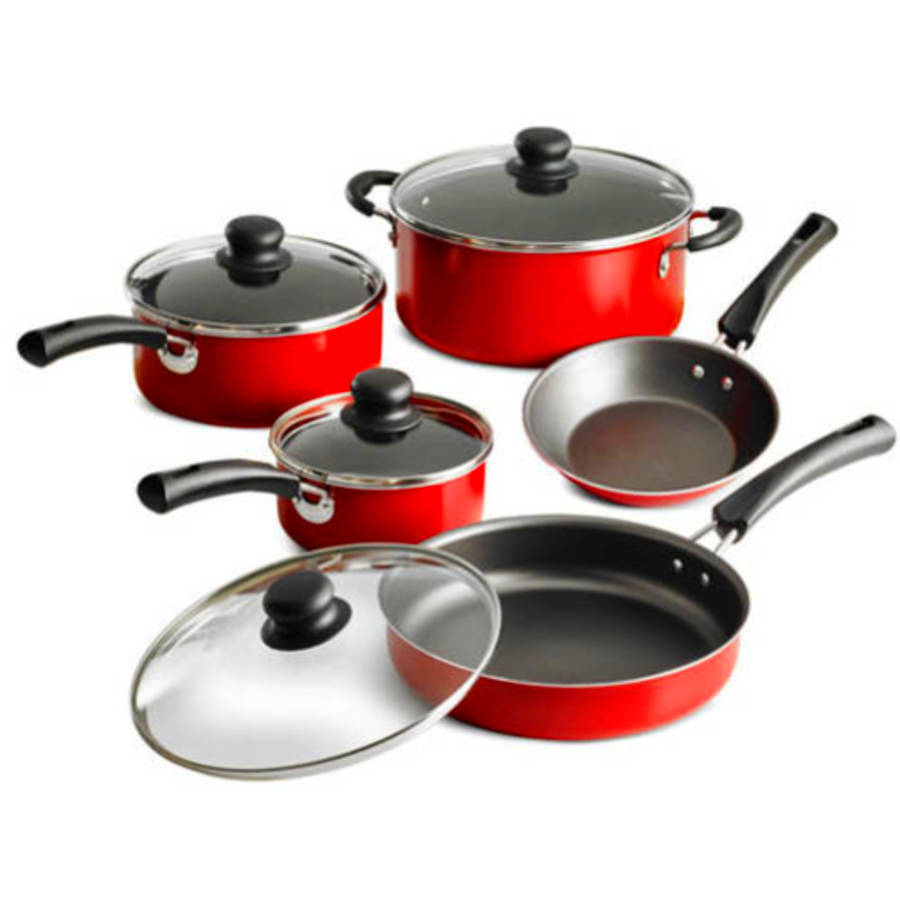 Nonstick Pots Pan 9 Piece Cookware Set Dutch Oven Kitchen