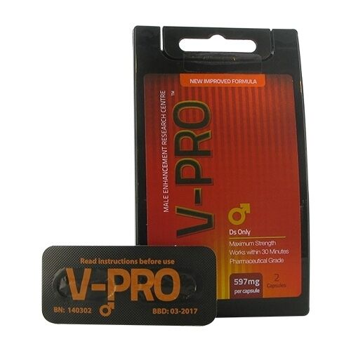 2 X 597mg V-Pro / Viapro Capsules Herbal Enhancement
