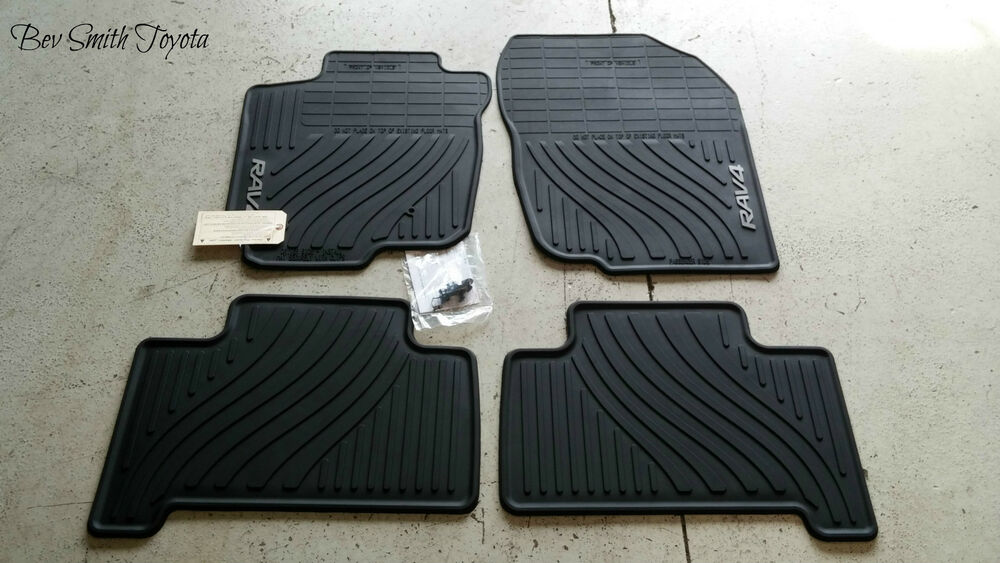 new oem toyota rav4 2007 2012 all weather floor mats 4. Black Bedroom Furniture Sets. Home Design Ideas