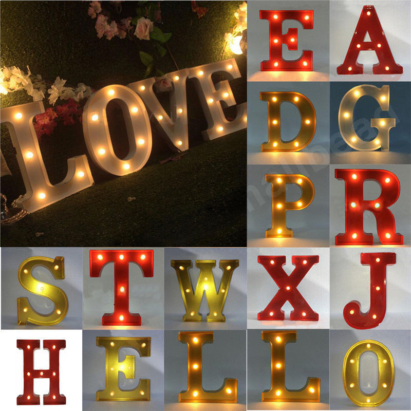 Love Led Sign Red Metal Letters Light Carnival Circus Marquee Light Up Word New Ebay