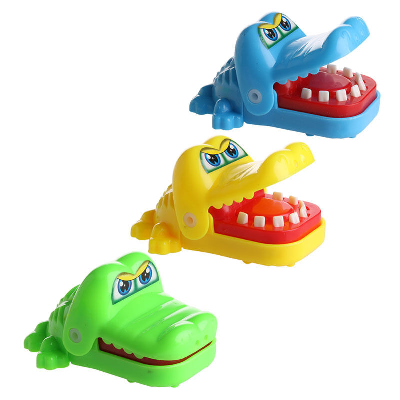 Toys For Biting : Cute crocodile mouth dentist bite finger game funny toy