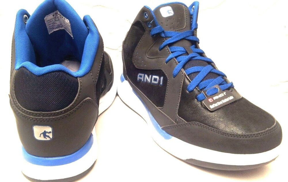 AND1 MEN Size MOST SIZE'S Premium Black/Gray/Blue Athletic