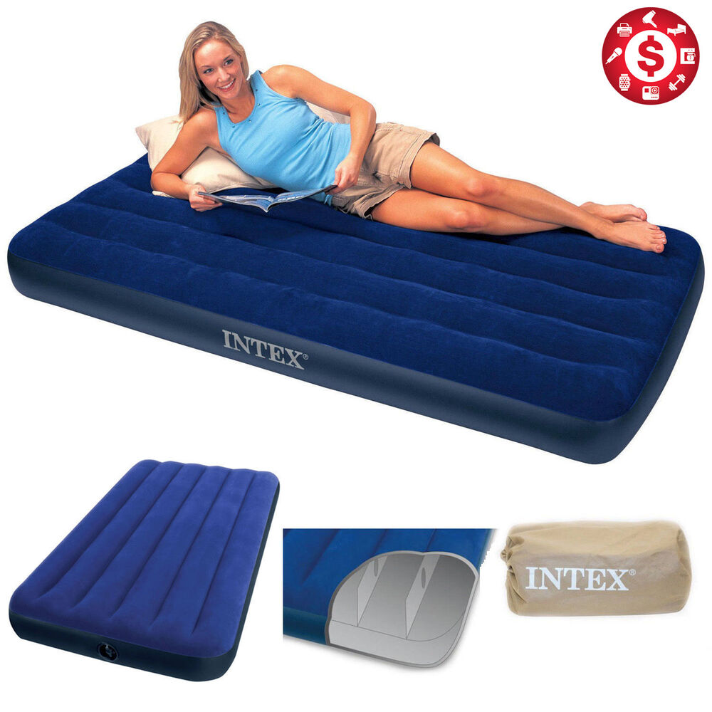 "Intex 8 75"" TWIN SIZE Downy Inflatable AIRBED MATTRESS"