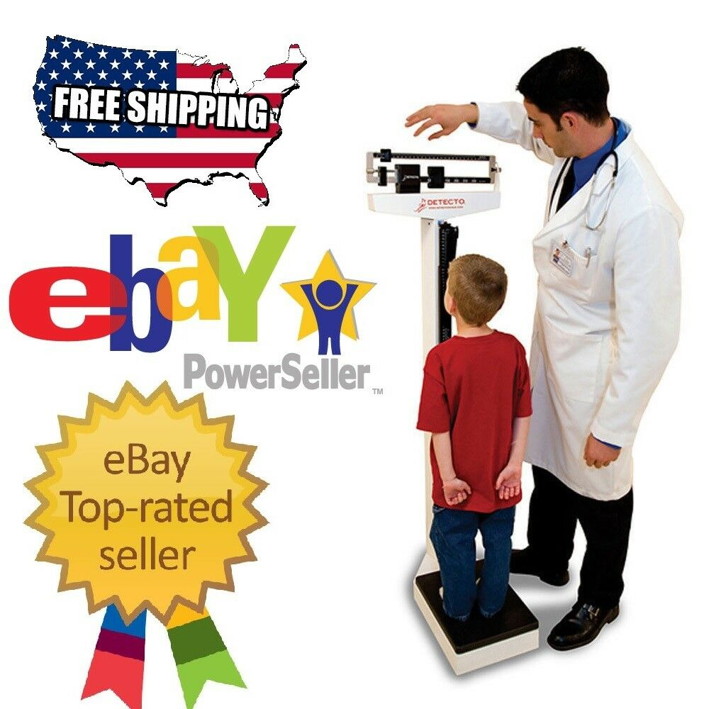 Detecto Physician Medical Body Weight Scale