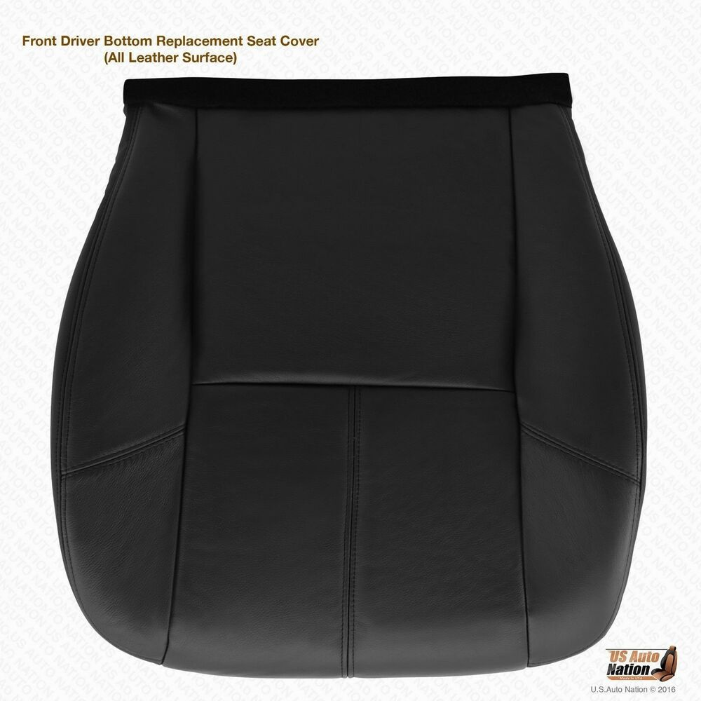 2007 Chevy Avalanche Seat Covers >> 2007-2014 Chevy Silverado Driver Bottom Leather Seat Cover (Heated) color Black   eBay