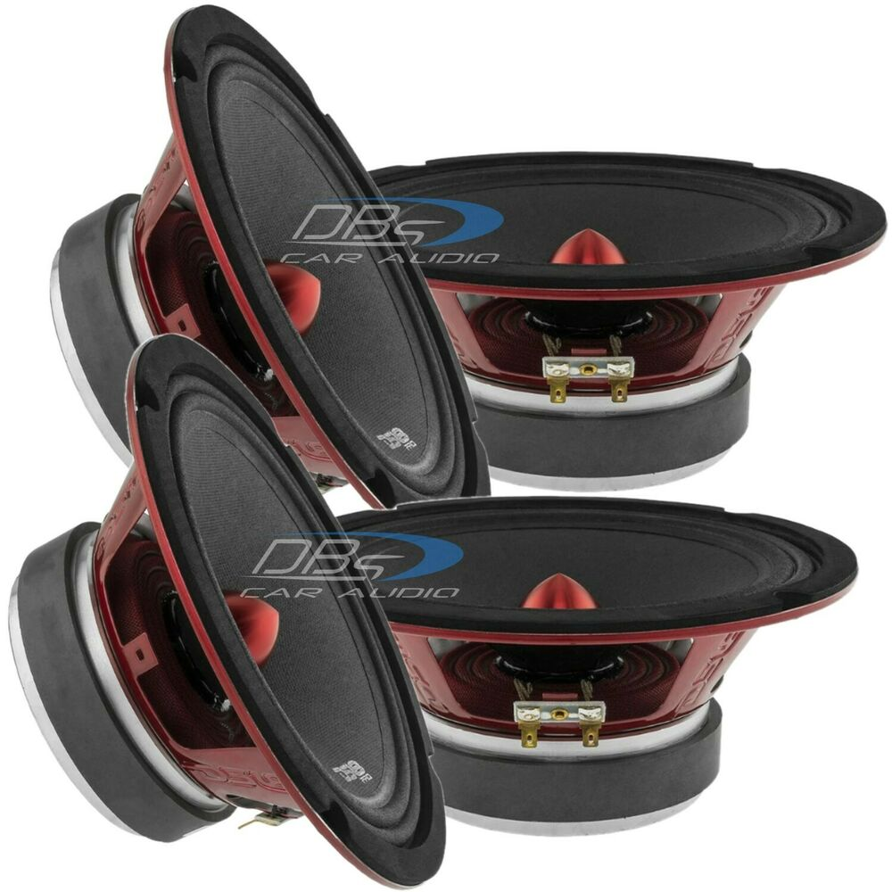 4) DS18 PRO-X8BM 8″ Midrange Car Speaker 2,400W Max 8 ohm ...