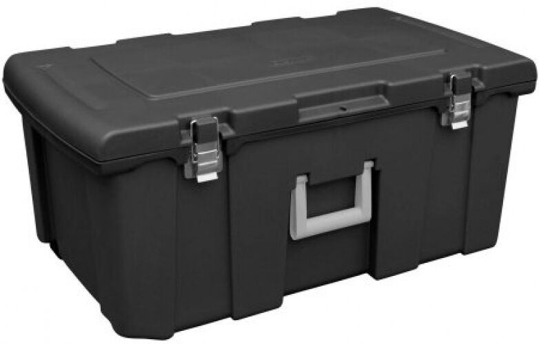 storage box footlocker organizer bin container wheels lock portable durable new ebay. Black Bedroom Furniture Sets. Home Design Ideas