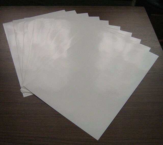 a4 sticker 20 sheets paper white glossy self adhesive new