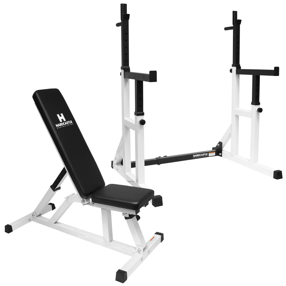 Heavy Equipment Frames : Adjustable weight bench heavy duty squat frame rack