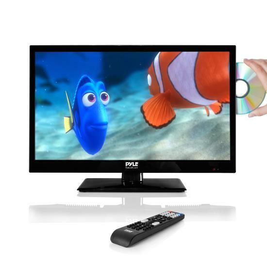 The Proscan Inch LED HDTV with Built-In DVD Player has many different connections including HDMI, VGA, YPbPr, PC Audio, AV Audio/Video, Coaxial Out, Headphone, and RF. Instead of having many devices around your house this TV DVD combo can also become your computer monitor.