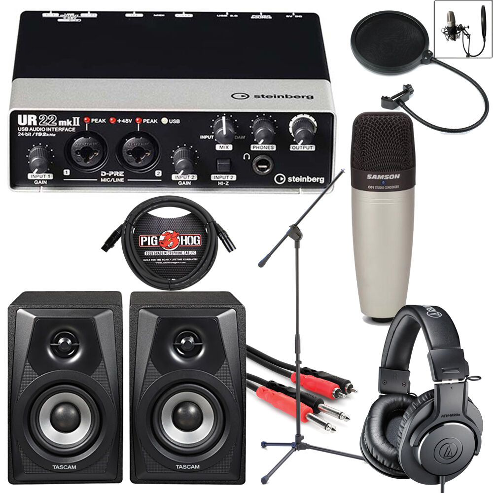 steinberg ur22mkii usb complete home recording studio songwriter bundle package ebay. Black Bedroom Furniture Sets. Home Design Ideas