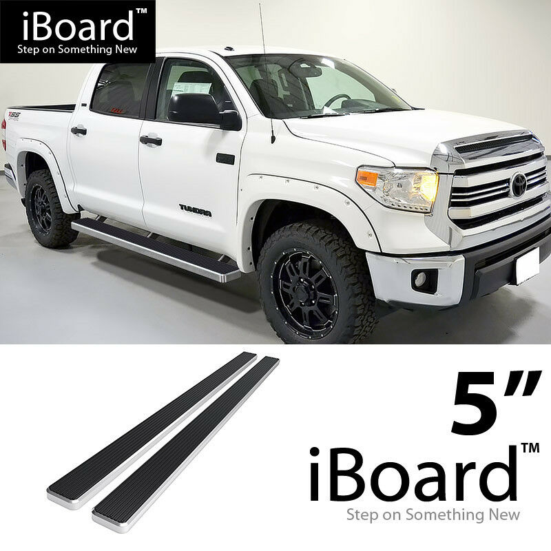 "2018 Toyota Tundra Double Cab >> Running Boards Silver 5"" Fit 2007-2018 Toyota Tundra CrewMax Pickup 4-Door 637230805985 
