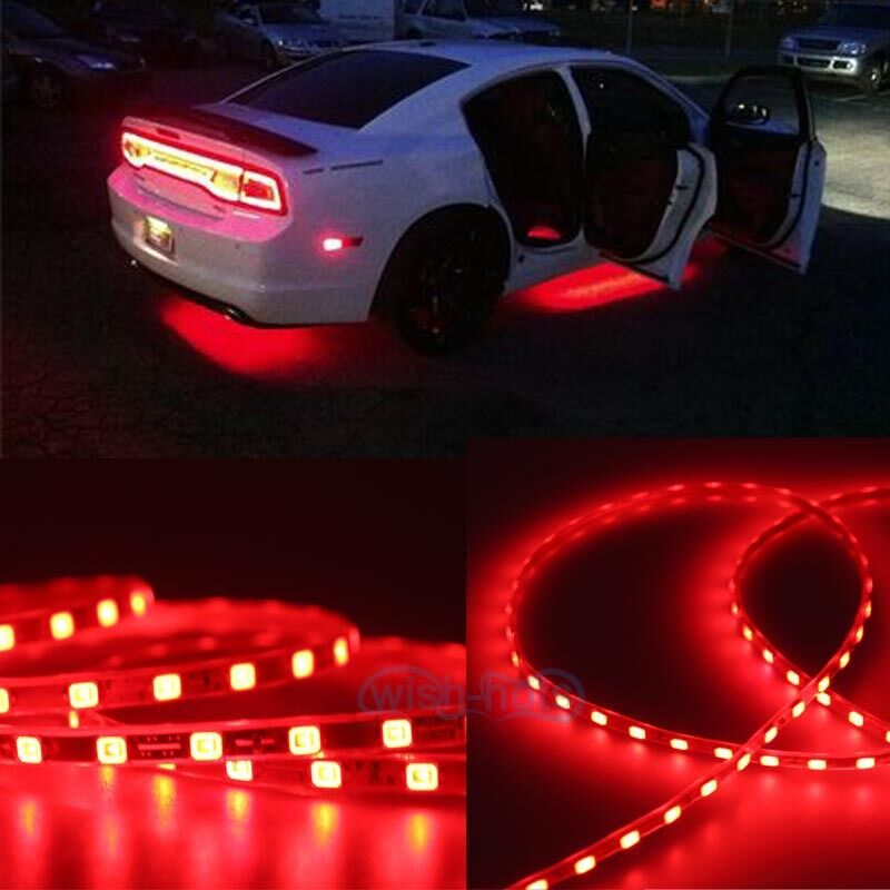 Red Car Body Glow Neon Led Lighting Undercar Underbody