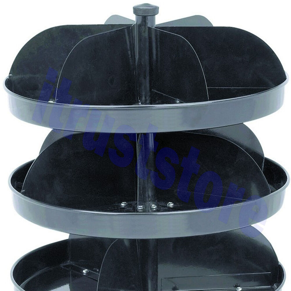 Revolving Spinning Small Parts Bin Storage Rack Steel