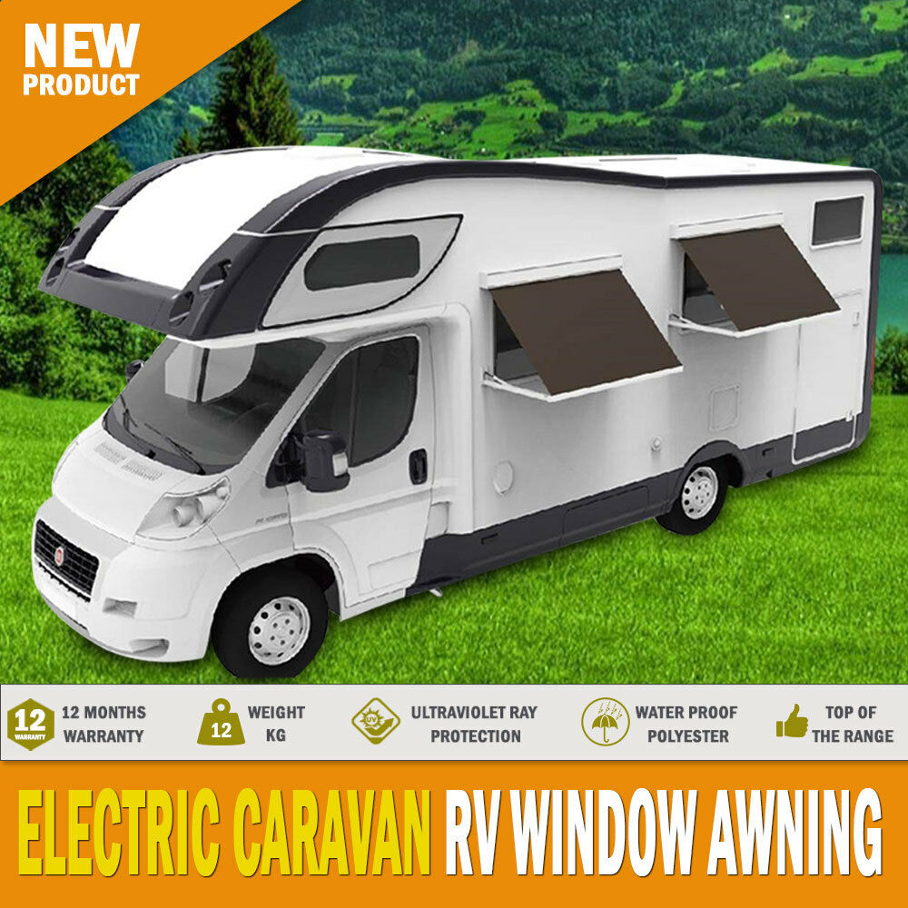 New Electric Caravan Rv Window Awning Remote 2m Wide ...