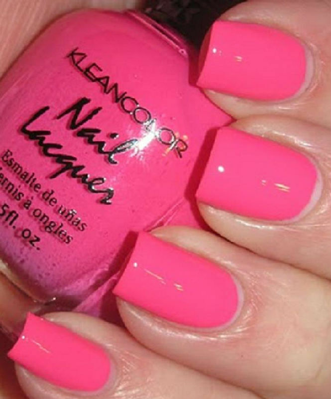Bright Pink Nail Polish Colors: 1 New Kleancolor NEON PINK Nail Polish Art Varnish