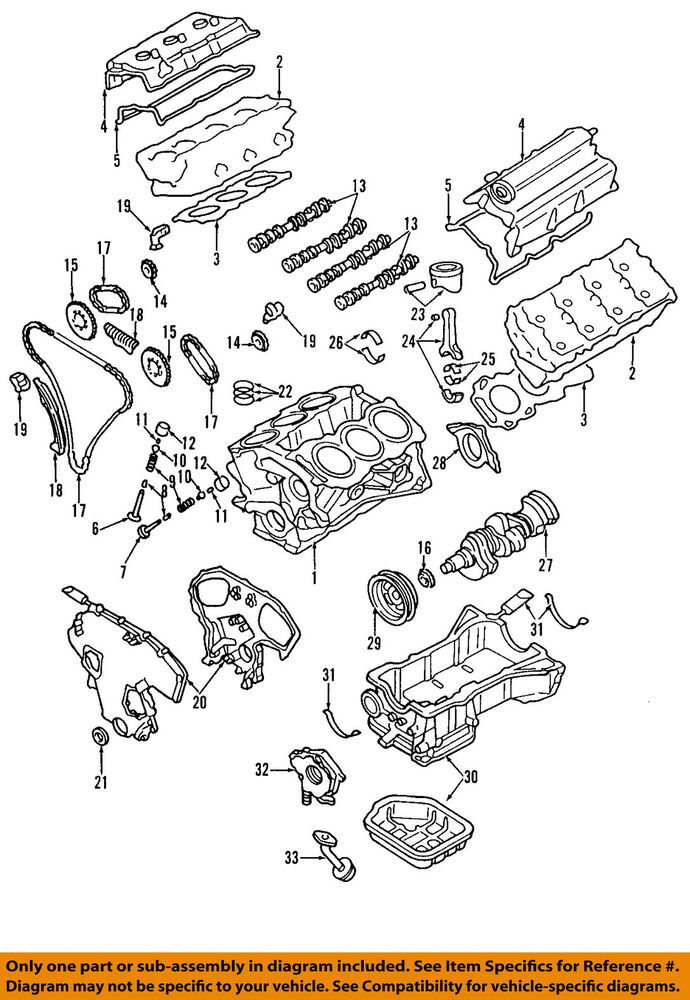 NISSAN OEMValve Cover Gasket VQ35DE Left Driver Side 132708J112 – I Infiniti Vq35 Engine Diagram