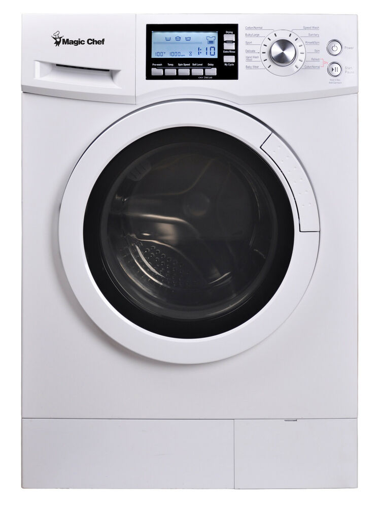 magic chef mcscwd20w3 2 0 cu ft combo washer dryer ventless 115 volts ebay. Black Bedroom Furniture Sets. Home Design Ideas