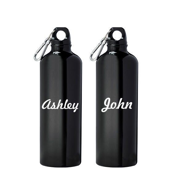 2x Personalized Water Bottle Label Name Sticker Vinyl
