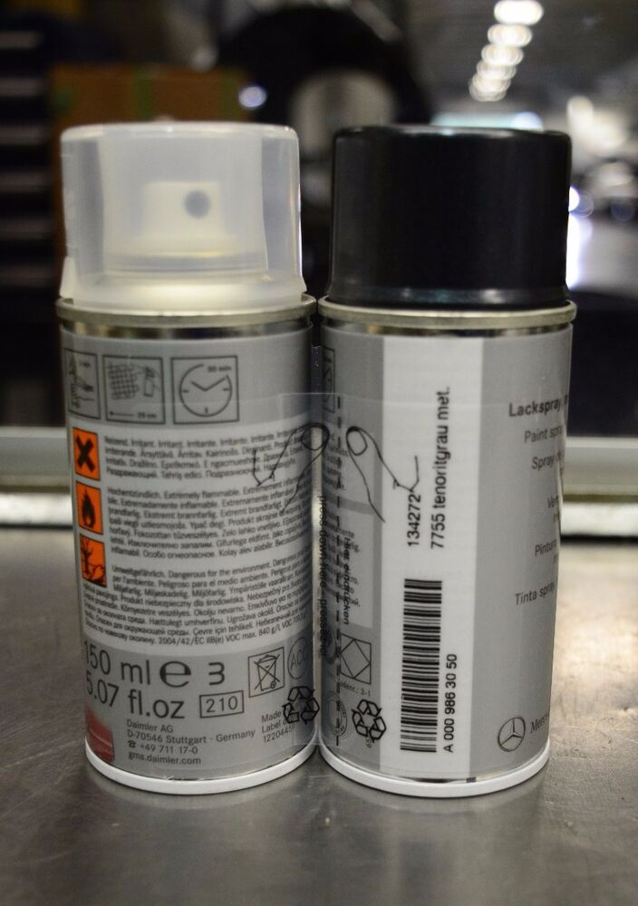 Oem genuine mercedes benz touch up spray paint set 755 for Mercedes benz touch up paint
