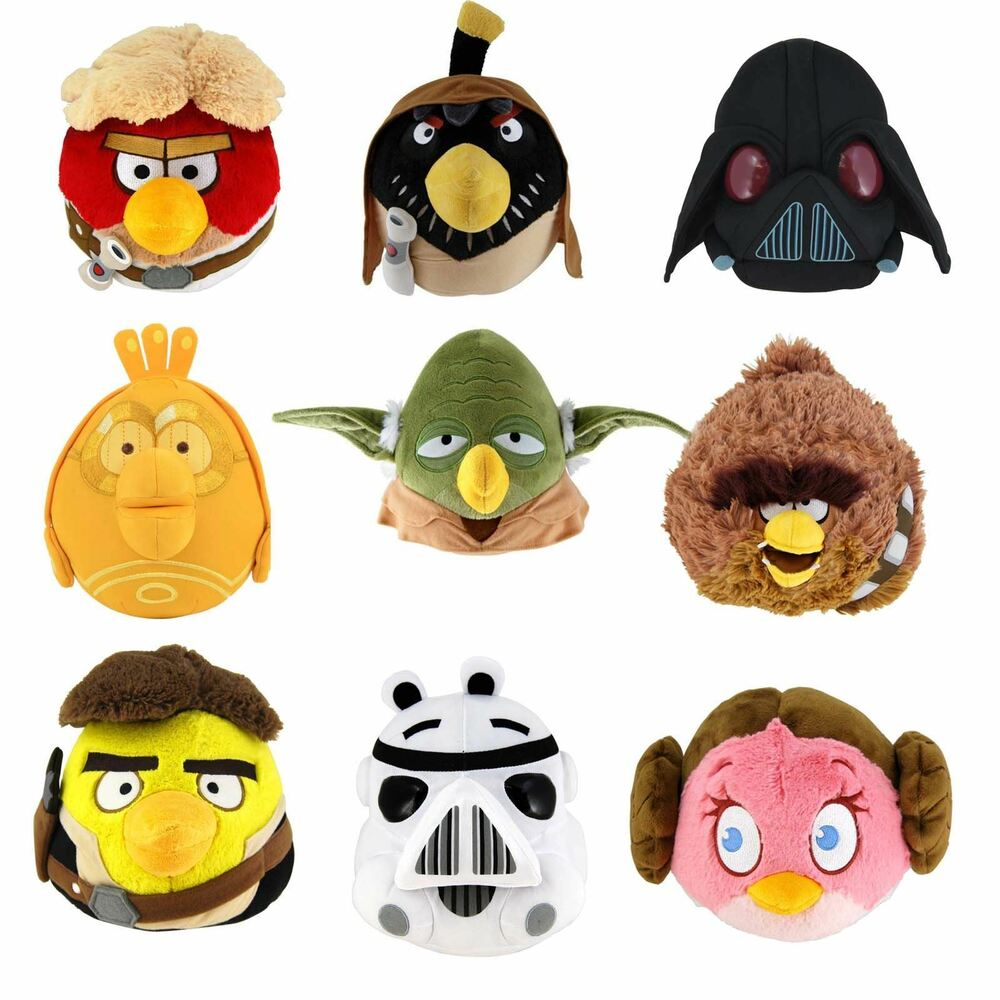 Angry birds star wars 8 plush soft toy collectible - Angry birds star wars 8 ...