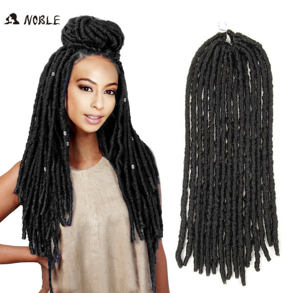 Crochet Braids Micro Locs : 18 Faux Locs Dread Locs Crochet Braiding Hair Synthetic Braiding ...