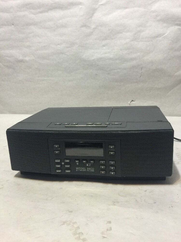 henry kloss canbridge soundworks model 88cd am fm stereo table radio cd player ebay. Black Bedroom Furniture Sets. Home Design Ideas