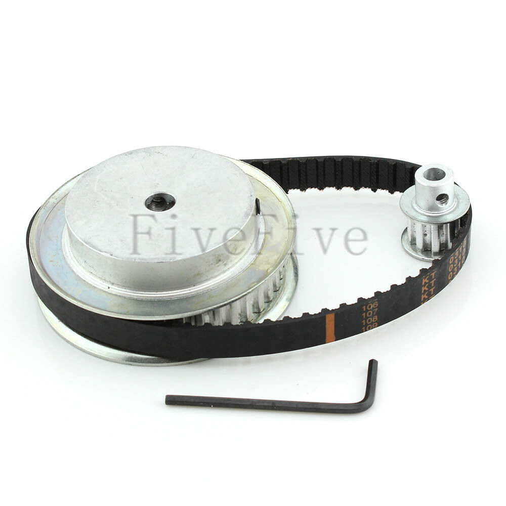 Xl Pulleys And Belts : Xl tooth pitch timing pulley belt set kit