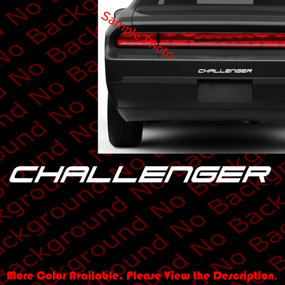 Challenger Vinyl Decal Car Window Bumper Sticker For Dodge Srt Hell Cat Rc089 Ebay