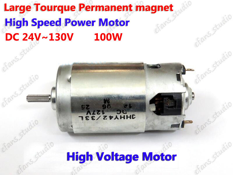 Dc 24v 130v 48v 110v 10000rpm high speed large torque 100w for High torque high speed dc motor
