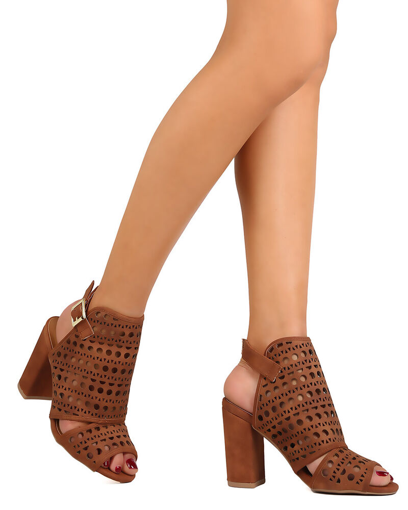 New women qupid chester 32 nubuck peep toe perforated - My peep toes ...