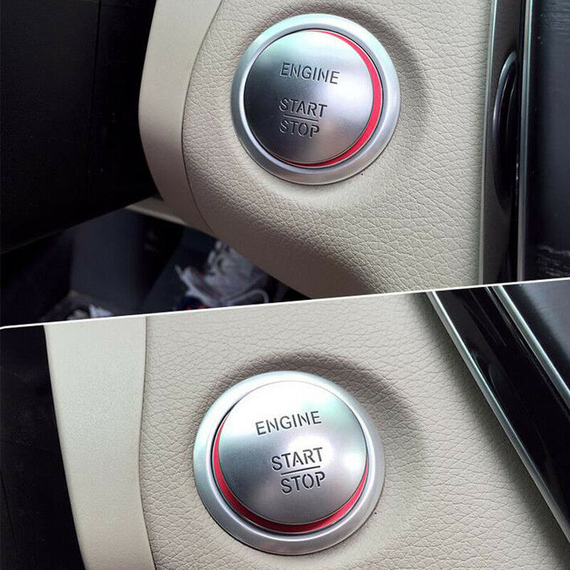 Red Start Button Ring Cover Keyless Ignition Trim For