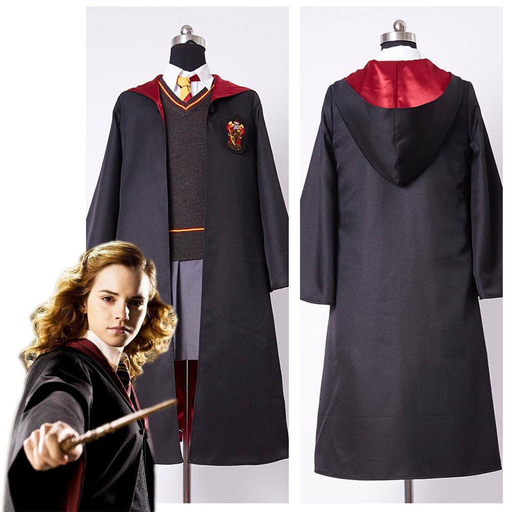 Harry Potter Hermione Granger Cosplay Costume Gryffindor School Uniform For Kid | eBay