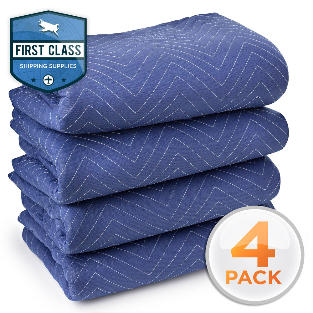4 moving blanket furniture pads deluxe pro 80 x 72 for Furniture moving pads