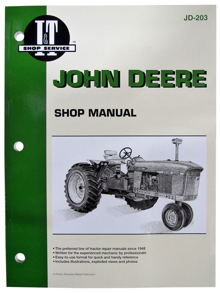 Tractor Manual Thickness : It jd i t shop manual collection for john deere