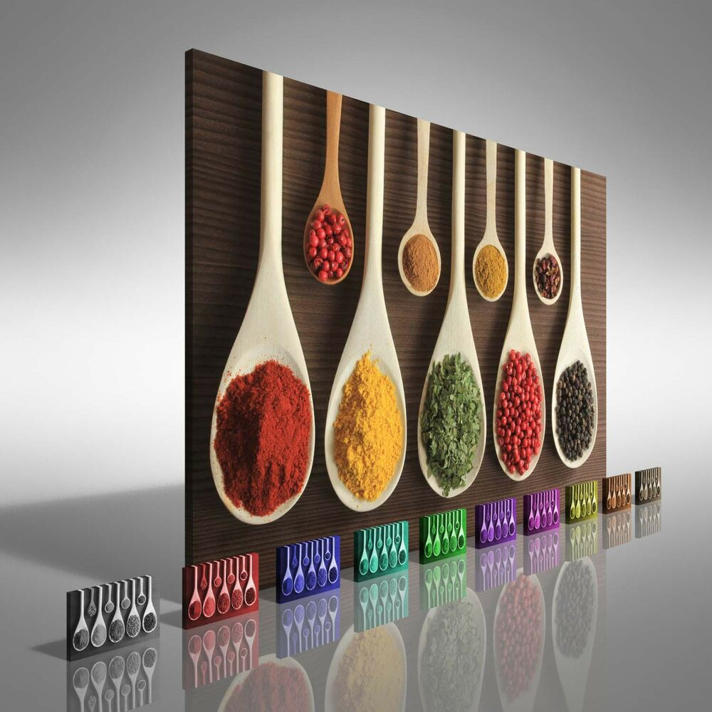 Kitchen Herbs And Spices Canvas Print Large Picture Wall
