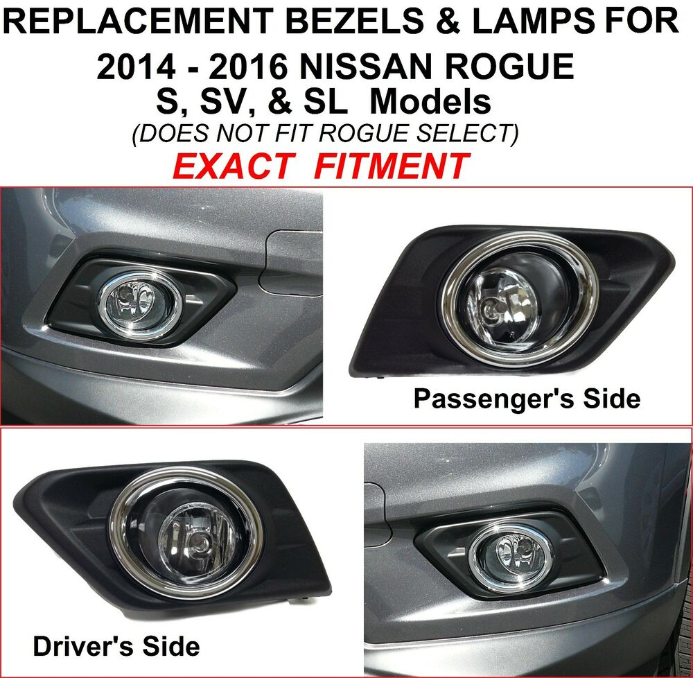 s l1000 for 2014 2015 2016 nissan rogue s sv sl replacement fog lights  at mifinder.co