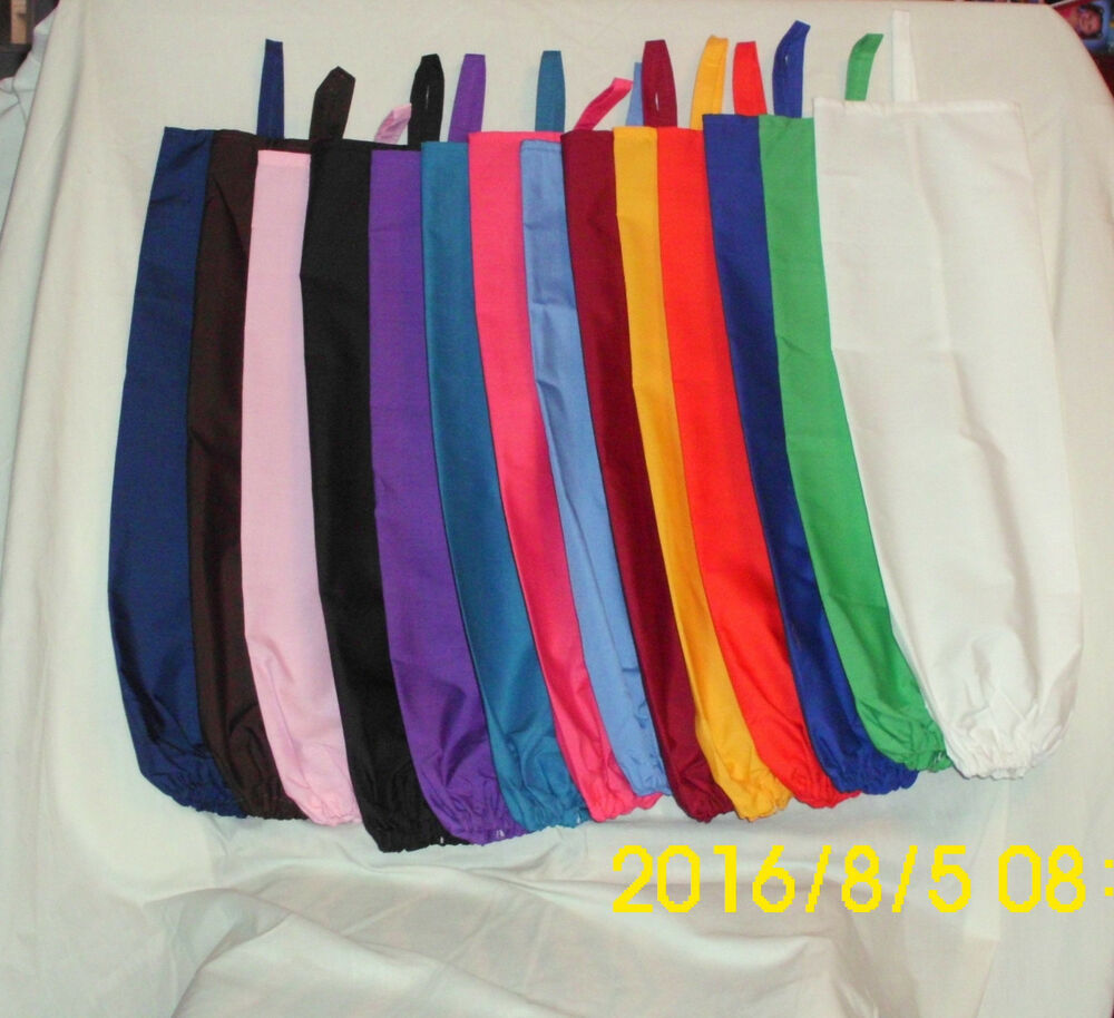 solid color design handmade fabric grocery plastic bag
