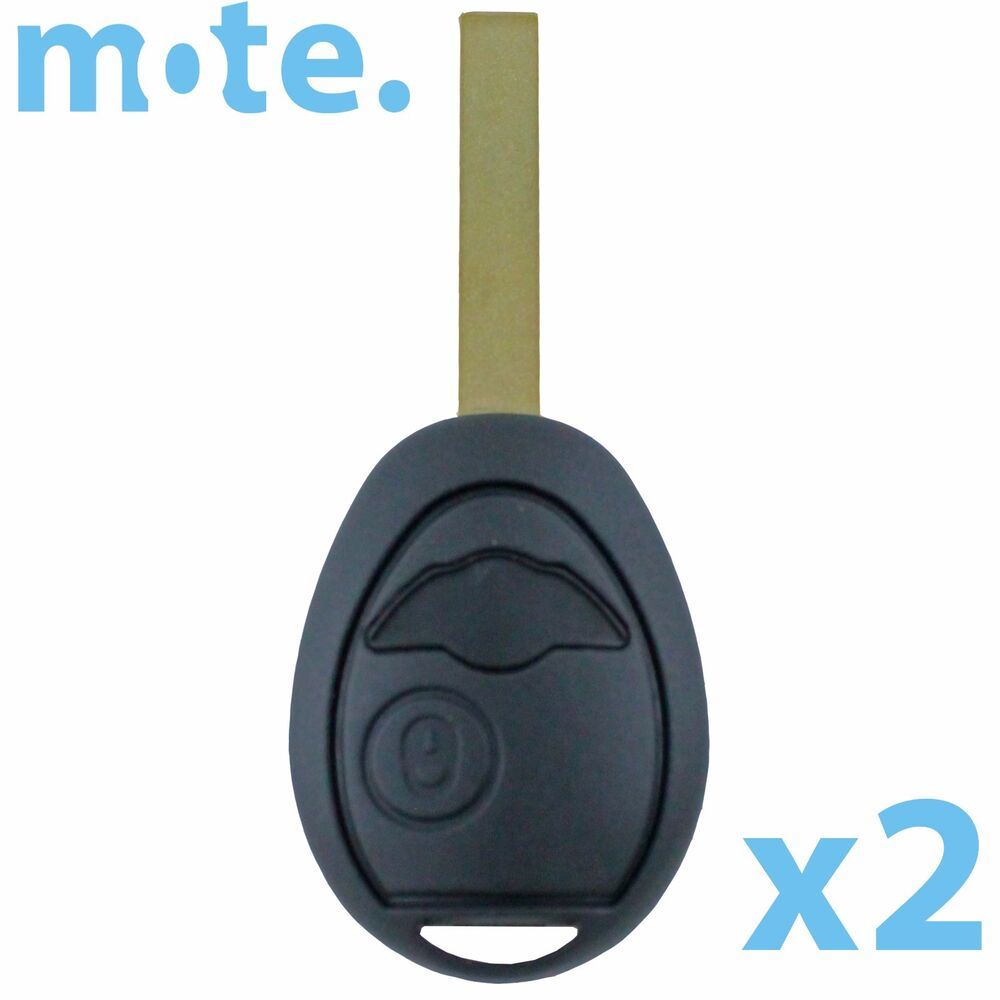 2 x bmw mini cooper remote key shell for r53 r50 case replacement housing fob ebay. Black Bedroom Furniture Sets. Home Design Ideas