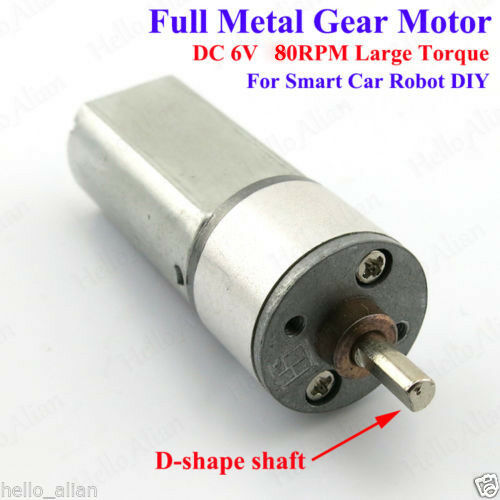 Dc6v 430rpm full metal speed reduction gear motor large for Small motors for robots