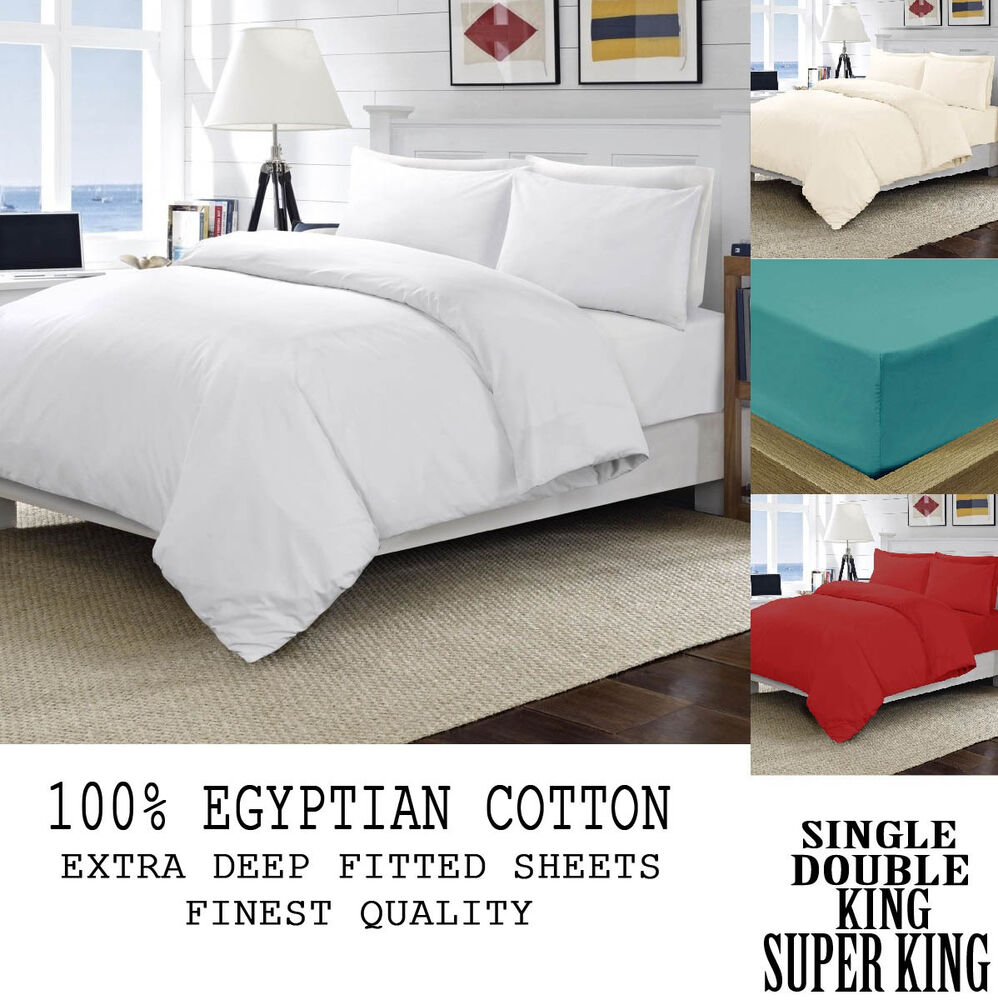 100 egyptian cotton best quality fitted bed sheets 40cm for Best egyptian cotton bed sheets