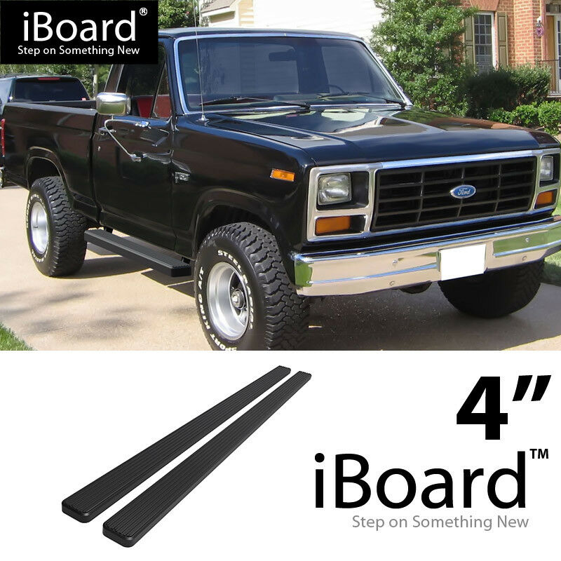 "EBoard Running Boards Matte Black 4"" 80-96 Ford Bronco/F"