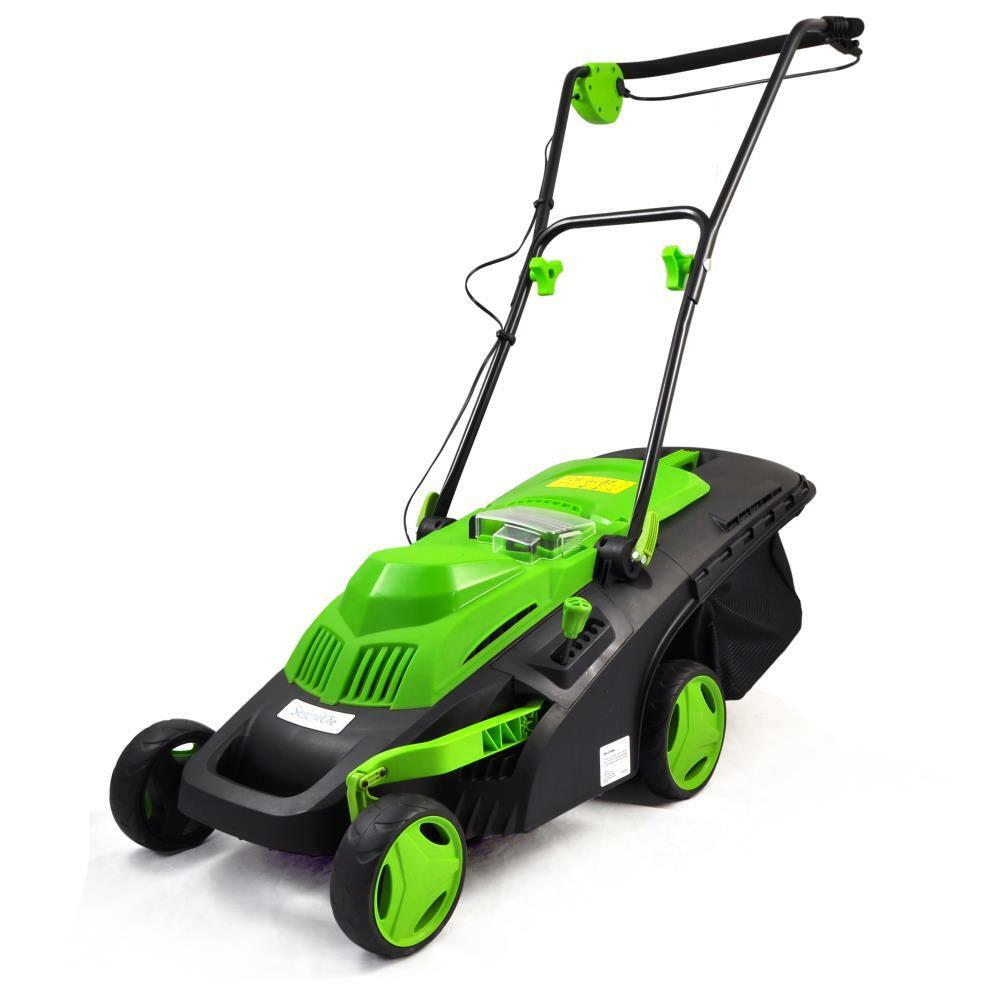 Cordless Lawn Mower : Serene life pslclm cordless lawn mower with built in v