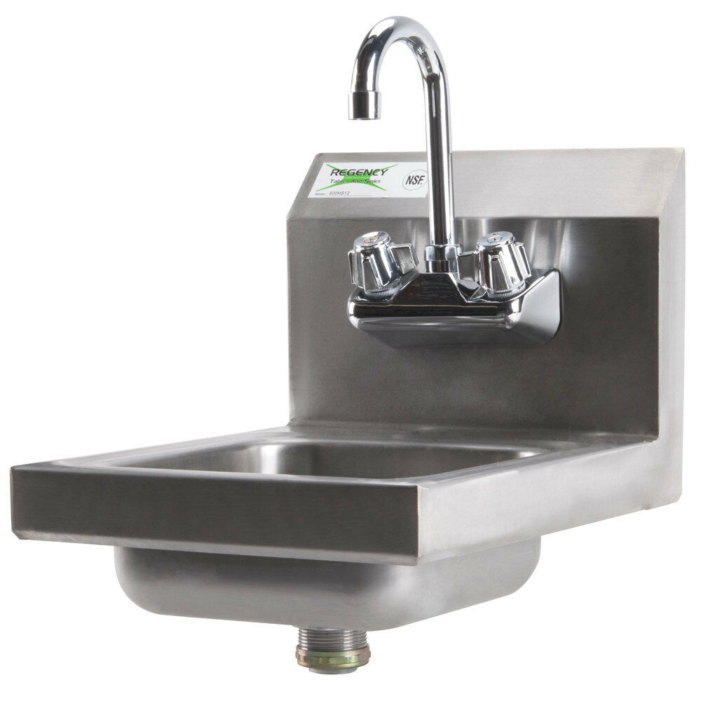 Regency 12 Quot X 16 Quot Wall Mounted Hand Sink With Gooseneck