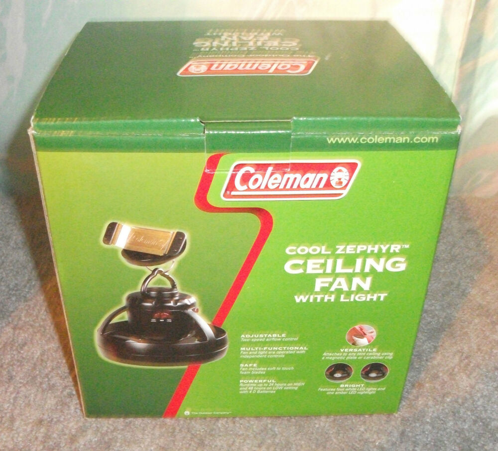 Coleman Ceiling Fan With Light New In Box Ebay